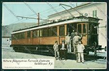 Sondrio Ferrovie Elettriche Valtellinesi Tram PIEGA cartolina QK2237