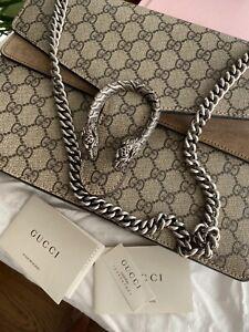 Gucci Dionysus Medium GG Shoulder Bag Beige