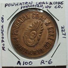WV Coal Company Scrip, Powhatan Coal & Coke Co. $1.00 Token, Powhatan, WV