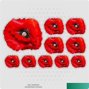Red Poppy Stickers Decals Graphic Nursery Wall Decoration Art Home Living Room
