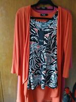 NEW WITH TAGS Nicole Vest Top with Matching Jacket Size Medium (12/14)