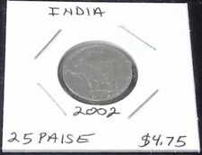 NICE SHINY India 2 Coin Set: 2002 25 PAISE (KM#54)  & 1992 10 PAISE (KM#40.1)