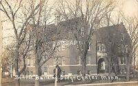 C86/ Dodge Center Minnesota Mn Real Photo RPPC Postcard 1914 School Building