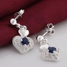 beautiful Fashion Silver Cute women Zircon Crystal Stud Earring Wedding jewelry