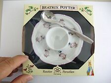 Ruetter Porcelain Beatrix Potter Jemima Egg Cup Plate with spoon NEW  27080