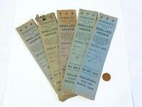 5 x Antique Paper Packs of 6 Murdoch's Snelled Hooks