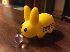 "Kidrobot Kozik Mini Labbit Classics 1.5"" OMFG LOL Yellow Clear Bubble Art Toy"