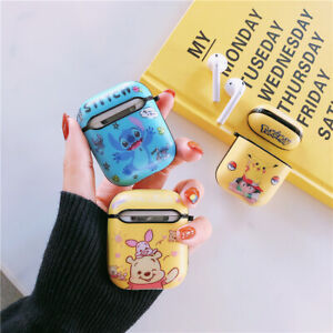 Disney Stitch Winnie PC Case Cover For Apple Airpods 1 2 Earphone Xmas Gift