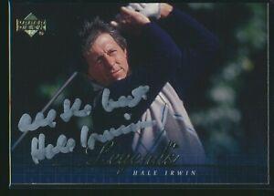 2001 Upper Deck Golf PGA #58 Hale Irwin Signed Autograph Auto
