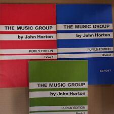 books THE MUSIC GROUP John Horton, Pupil's book 1 + 2 + 3