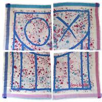 Auth LOUIS VUITTON Mr.A XL Scarf Stall Shawl Monogram Silk Wool M75278 32MH010