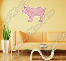 """Cheerful Pink Pig Boar Abstract Colorful Wall Sticker Room Interior Decor 25""""X20"""