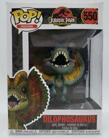 Funko Pop! Jurassic Park 25th Anniversary #550 Dilophosaurus + Protector Damaged