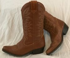 Kentucky's Western Brown Mid Calf Leather Lovely Boots Size 39 (544Q)
