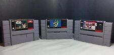 SNES Super Nintendo Game Bundle Super Mario World/Super StarWars/NHLPA Hockey 93