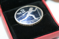 Canada $20 Proof 1988 Calgary Winter Olympic Edge Coin Cross Country Ski in Box