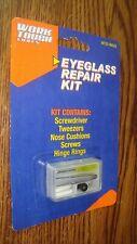 Eyeglass Repair Kit Screwdriver, Tweezers, Screws, Cushions, Hing Rings in case