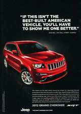 2012 Jeep Grand Cherokee SRT SRT8 Original Advertisement Print Art Car Ad K81