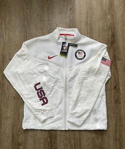 Nike Team USA Medal Stand Windrunner Jacket White Men's Sz Large CK4552-100