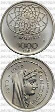 0281] REPUBBLICA ITALIANA - 1000 LIRE D'ARGENTO 1970 _ ROMA CAPITALE