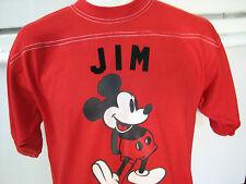 Mickey Mouse t-shirt retro vintage 1960s 1970s Mint condition JIM felt letters