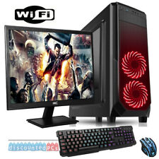 "FAST 3.90GHz Dual Core AMD 19"" Desktop Gaming PC Bundle 4GB 1TB WIFI dp601"