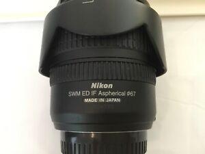 Nikon 24-85mm f3.5-4.5G FX ED lens with UV filter