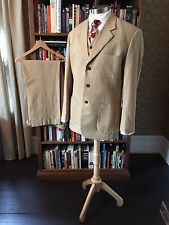 3pc Cotton/Linen Summer Weight Gatsby Style Men's Suit 43R
