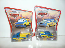 2) Disney World Of Cars Race Official Tom & Tow Piston Cup Officials Set Lot NEW