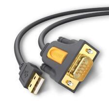 Ugreen 1M USB auf RS232 Seriell Kabel Druckerkabel Adapterkabel 9Pin DB9 Stecker