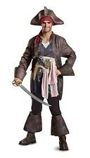 Captain Jack Sparrow Pirates Caribbean Fancy Dress Up Halloween Deluxe Costume