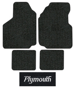 1981-1989 Plymouth Reliant Floor Mats - 4pc - Cutpile
