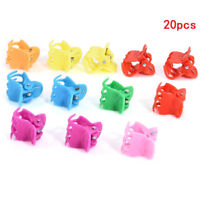 20PCS Kids Colorful Assorted Mini Small Plastic Hair Clips Claws Clamps newly