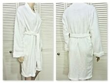 NWT $62 RALPH LAUREN WRAP ROBE LARGE WHITE PLUSH w SHAWL COLLAR & POCKETS