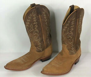 Dan Post Suede Leather Cowboy Boots Mens 11