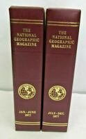 1977 National Geographic Magazine Set Complete W/ Slip Cover January - December