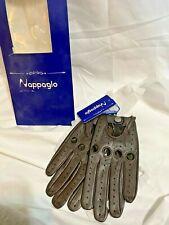 Nappaglo Women Driving Leather Gloves Italian Lambskin Full-Finger Motorcycle L