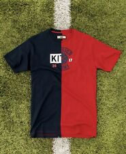 2017 Kith x El Clasico Collab Split Soccer Tee Red T-Shirt Size L New w/tag Rare