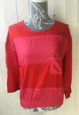 BNWT RRP €30 Adidas Neo Ladies Top Size 12 | Pink & Red Stripe | Rare Retired
