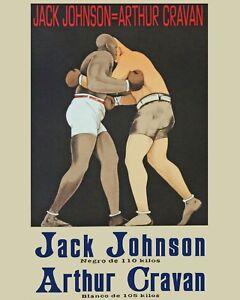 Jack Johnson vs Arthur Cravan Art Fight Poster - 8x10 Color Photo