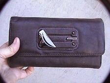 guess wallet 7 x 4 x 1 inch brown