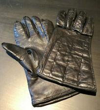 Chanel Leather & Cashmere Lined Gloves, Size 7 3/4
