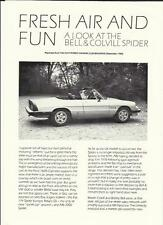 """Alfa romeo 2000 spider essai routier """"sales brochure""""/feuilles + concessionnaire des prix 1985"""