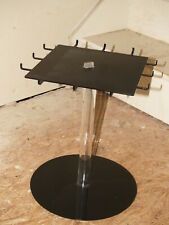 Plastic Black and Clear Spinning Necklace Display Stand