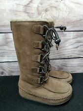 FitFlop Tall Mukluk Brown Suede Boots Size 5 US/ 36 EUR Shearling Lined Boots