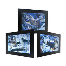 3 Dimension 3D Lenticular Picture Snow Wild Wolf Pack Fierce Forest Dangerous