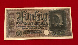 INGLORIOUS BASTERDS GERMAN 50 FÜNFZIG RENTENMARK PROP CURRENCY