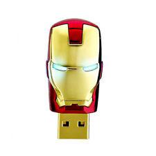 Creative Gold Iron Man Mark 8GB USB Flash Drives Thumb Drive Flash Memory Sticks