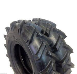 (TWO) 4.00-8 4.80x8 / 4.00-8 4.00x8 R1 Lug Garden Tiller Tires 4ply Fits Tiller