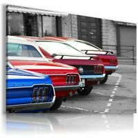 FORD MUSTANG RED BLUE Cars Wall Art Canvas Picture  AU854 MATAGA . NO FRAME
